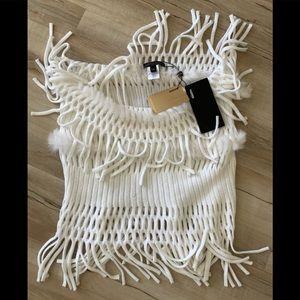 Alberto Makali 100% rabbit fur infinity scarf